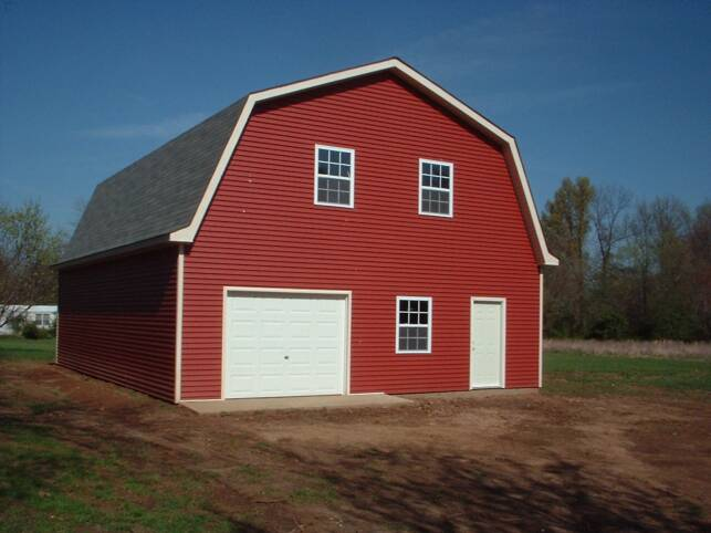 Gambrel Barn Style Lofted Garages Free Estimates: gambrel style barns